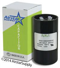 108 - 130 uF x 220 250 VAC • BMI # 092A108B250BD4A Motor Start Capacitor • USA