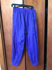 Vintage 90s Eastbay Purple Athletic light weight unlined Track Pants See meas
