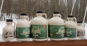Pure Vermont Maple Syrup-Quart-Grade A-Very Dark Amber-Strong
