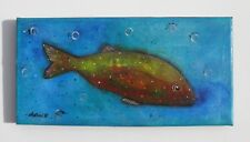 Fish Ocean Coral Great Barrier Reef Tropica Sea Life Original Painting