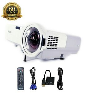 Refurbished Epson PowerLite 410W Short-Throw Projector HD 1080i w/bundle