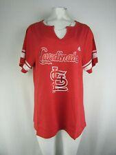 Saint Louis Cardinals MLB Majestic Women's Plus-Size Notch-Neck T-Shirt