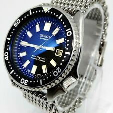 Double Dome watch Crystal Blue Hue! fits Seiko Diver 7002 6309 + other models