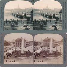 Schweden Sweden Stockholm Göteborg, Lot 1, 20 Stereofotos, Motive um 1900