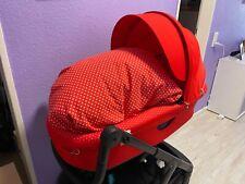 STOKKE Babywanne / Aufsatz* rot/ weiße Punkte innen*limitiert*neu* Crusi/ Trailz