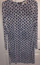 MICHAEL KORS Black & White Print DRESS NWT Size Medium $100