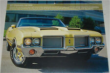 1971 Oldsmobile 442 W30 Convertible car print (yellow, no top)