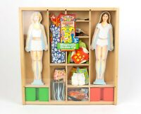 Melissa & Doug Magnetic Wooden Dress-Up Dolls Pretend Play Playset | 38 Magnets!