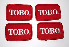 4 Vintage Toro Tractor Lawn Mower Farm Equipment Cloth Jacket Patch New NOS