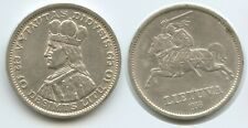 G9924 - Lithuania 10 Litu 1936 KM#83 Silver Scarce VYTAUTAS DIDYSIS Litauen