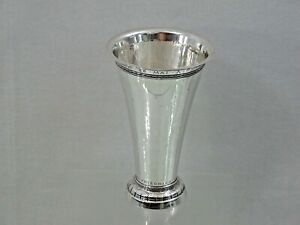 STUNNING SILVER VASE HAND HAMMERED 60th anniversary 1854 - 1914 sterling Germany