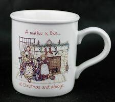 Holly Hobbie Coffee Mug Cup American Greetings 1974 Mother Is Love At Christmas