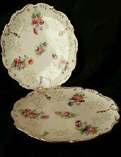 Vintage Coalport Plates Dresden Style Beautiful Flower Bouquets  Gold Accents