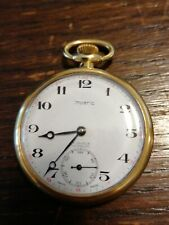 SWISS IMPERIA Gold Tone  Pocket Watch 17 JEWELS INCABLOC UNADJUSTED 41.5mm Works