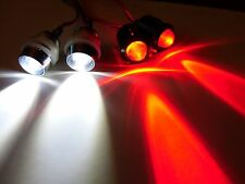 RC 10mm Red and White LED Headlights Tails Lights/holders LEDs Truck Car UFO