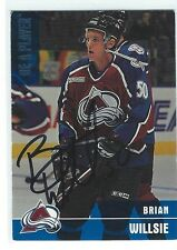 Brian Willsie Signed 1999/00 Be A Player Memorabilia Rookie Card #388
