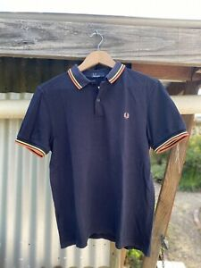 Fred Perry Polo Men's Medium M Navy Blue