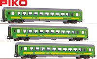 Piko H0 58677-S Personenwagen 2. Klasse der GYSEV (3 Stück) - NEU + OVP