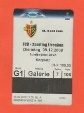 Orig.Ticket  Champions League 2008/09   FC BASEL - SPORTING LISSABON  !!  SELTEN