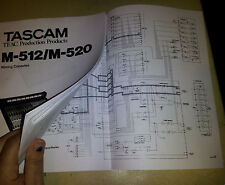TEAC TASCAM M-512 / M520 M512 OWNER'S MANUAL only - Comb Bound, Soft Cover