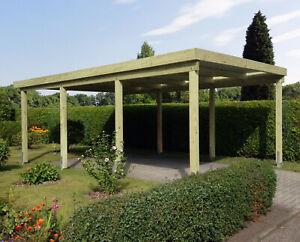 Carport 4x6 m Kiefer inkl. Dach und Anker, ca. 410x600 cm DIREKT VOM HERSTELLER!
