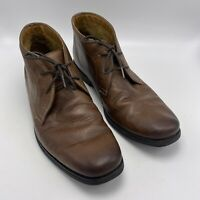 Clarks Collection Sz 11 M Mens Chukka Boots Brown Leather Ankle Lace Up