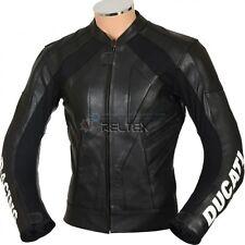 "DUKE Classic Black Biker Leather Jacket with Speed Hump EU50 40"" MEDIUM"