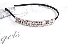 Rose Gold Diamante Crystal Side Tiara headband **New In