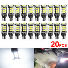 20x T15 3030 LED W16W 921 912 Canbus White 6000K Car Reverse Parking Light Bulbs