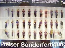 HO PREISER # 13255 LIMITED EDITION Old Time German Military Band Figures c.1900