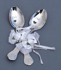 personalized Black Engraved Wedding Spoons