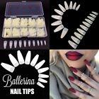 500pcs False Nail tips Long Ballerina Coffin Nails DIY + Jewelry Box