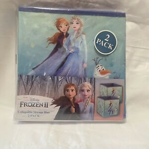 """New 9"""" Frozen II (2) Foldable Storage Bin for Small Toys-2 Pack- Free Shipping"""