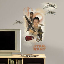 STAR WARS VII THE FORCE AWAKENS HEROES wall stickers 4 decals MURAL room decor