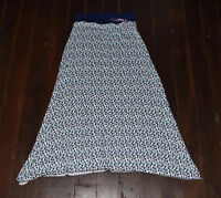NEW ZALI LADIES FASHION LONG SPOT PATTERN SKIRT WITH BLUE TOP SIZES 8-16