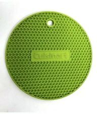 Cuisinart Multipurpose Silicone Kitchen Trivet/Pot Holder Yellow Green Set Of 2