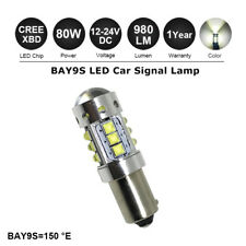 1x Bay9s High Power 80W Canbus Error Free White H21W 435 CREE LED SideLight Bulb