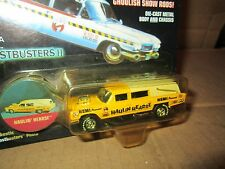 J L HAULIN HEARSE CADILLAC 97 JOHNNY LIGHTNING FRIGHTNING LIGHTNING  1:64 yellow