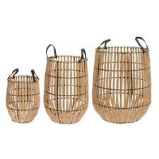 """Wooden Storage Baskets 3-Piece Set """"Runa"""""""