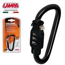 Nero Moschettone stile serratura a combinazione, ideale per lo sci, Kit Borsa, Board Bag Lock