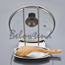 Lid Rack Stand Spoon Holder Fad Durable Stainless Steel Pan Pot Rack Cover