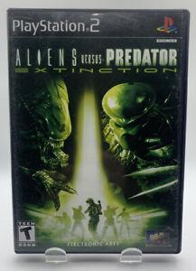 Aliens Vs Predator Extinction Sony Playstation 2 PS2 No Manual Black Label NTSC