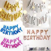 Letter Balloons Set Happy Birthday Banner Foil Balloon Party Birthday Decor