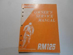 1995 Suzuki RM125 Propietarios Servicio Manual 9901143D5303A Fábrica OEM X