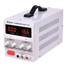 DC Power Supplies 30V 10A 110V Precision Variable Digital Adjust w/Clip Cable