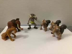 Ice Age figure toy playset Manny Diego Scrat Squint Bundle Joblot