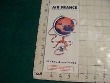 Vintage brochure: AIR FRANCE schedule & fares,1959,  VERY CLEAN