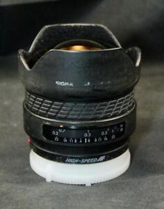 Sigma AF 14mm f/3.5 Minolta Sony Mount Wide Angle Fisheye Camera Lens