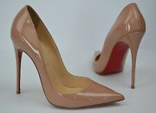 Christian Louboutin So Kate Nude Pointy Toe Pumps Size 38 / 8