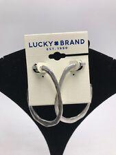 """2-1/5"""" hoop earrings Lb3 $29 Lucky brand silver tone"""